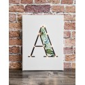 A - Tropical LED letter, 30×40×4cm, pattern 1