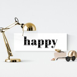 Happy - napis led 20×60×4 cm
