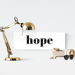 Hope - napis led 20×60×4 cm