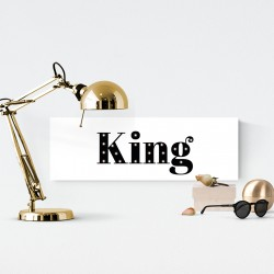 King - napis led 20×60×4 cm