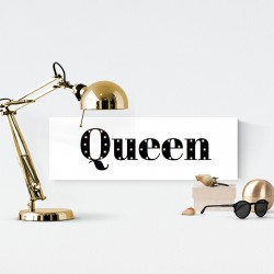 Queen - napis led 20×60×4 cm