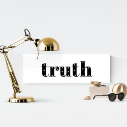 Truth - napis led 20×60×4 cm