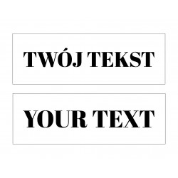 Your TEXT - LED expression 20×60×4 cm