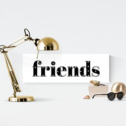 FRIENDS - napis led 20×60×4 cm