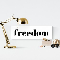FREEDOM - napis led 20×60×4 cm