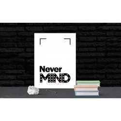 Never mind - napis led 30×40×4 cm