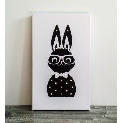 """Mr. Rabbit"" - print with LED, 30×50×4 cm"