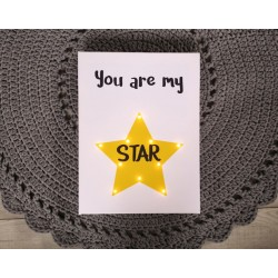 You are my star - LED expression 20×60×4 cm