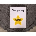 You are my star - napis led 30×40×4 cm