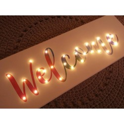 Welcome - LED expression 20×60×4 cm