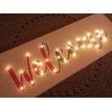 Welcome - napis led 20×60×4 cm