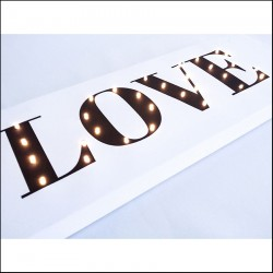 LOVE - napis led 20×60×4 cm