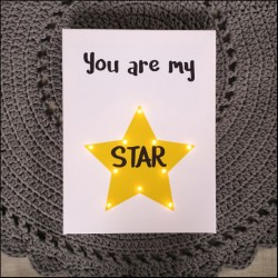 You are my star - LED expression 30×40×4 cm