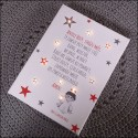 Prayer - canvas print LED - red and grey, 30×40×4 cm