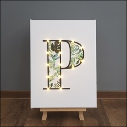 P - Tropical LED letter, 30×40×4cm, pattern 1