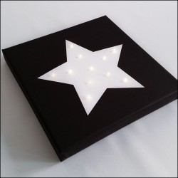 Star - print with LED, 30×30×4 cm