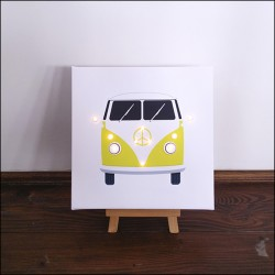 Camper - print with LED, 30×30×4 cm