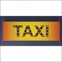 TAXI - LED expression 20×60×4 cm