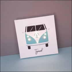 Camper with a name - print with LED, 30×30×4 cm
