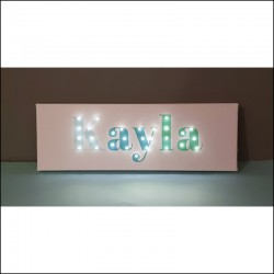 Your NAME- LED sign, ombre 20×60×4 cm