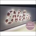 Your NAME- glitter LED sign, pink, 20×60×4 cm