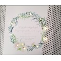 Floral wreath with letter, pattern 6 - LED print - 30×40×4 cm