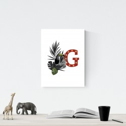 G - LED letter Tucan, 30×40×4 cm, red