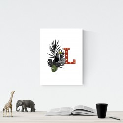 L - LED letter Tucan, 30×40×4 cm, red