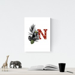 N - LED letter Tucan, 30×40×4 cm, red