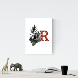 R - LED letter Tucan, 30×40×4 cm, red