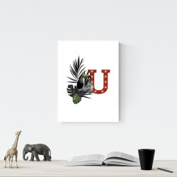 U - LED letter Tucan, 30×40×4 cm, red
