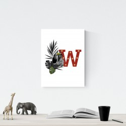 W - LED letter Tucan, 30×40×4 cm, red