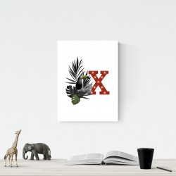 X - LED letter Tucan, 30×40×4 cm, red