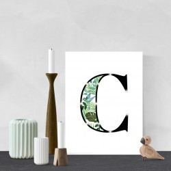C - Tropical LED letter, 30×40×4cm, pattern 1