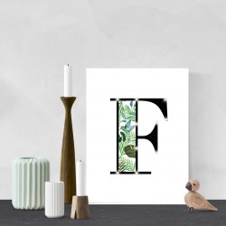 F - Tropical LED letter, 30×40×4cm, pattern 1