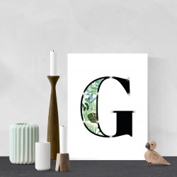 G - Tropical LED letter, 30×40×4cm, pattern 1