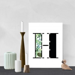H - Tropical LED letter, 30×40×4cm, pattern 1