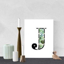 J - Tropical LED letter, 30×40×4cm, pattern 1