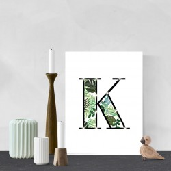 K - Tropical LED letter, 30×40×4cm, pattern 1
