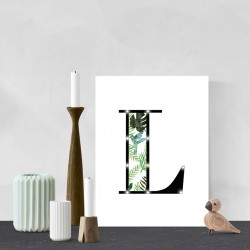 L - Tropical LED letter, 30×40×4cm, pattern 1