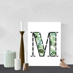 M - Tropical LED letter, 30×40×4cm, pattern 1