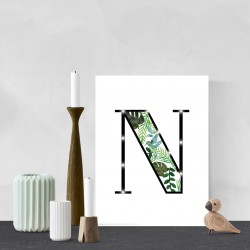N - Tropical LED letter, 30×40×4cm, pattern 1