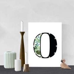 O - Tropical LED letter, 30×40×4cm, pattern 1