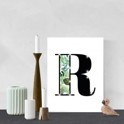 R - Tropical LED letter, 30×40×4cm, pattern 1