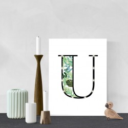 U - Tropical LED letter, 30×40×4cm, pattern 1