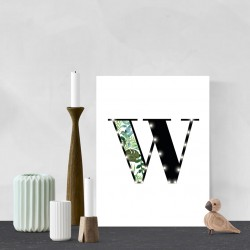 W - Tropical LED letter, 30×40×4cm, pattern 1