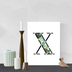 X - Tropical LED letter, 30×40×4cm, pattern 1