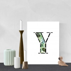 Y - Tropical LED letter, 30×40×4cm, pattern 1
