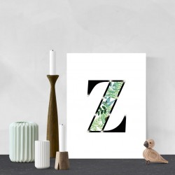 Z - Tropical LED letter, 30×40×4cm, pattern 1